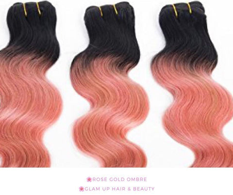 Rose Pink & Black Ombre - Glam Up Hair & Beauty