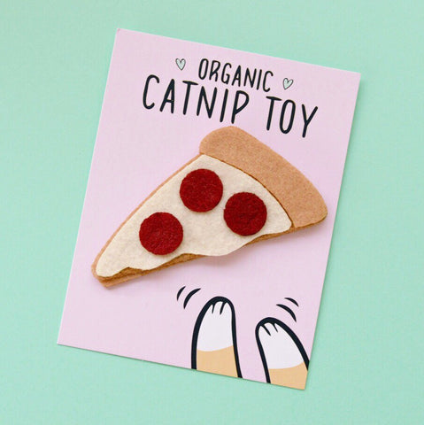 Catnip pizza toy