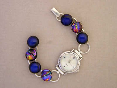 Dichroic & Art Glass Bracelets and Watches