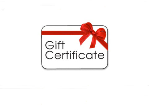 Gift Certificates for Any Occasion
