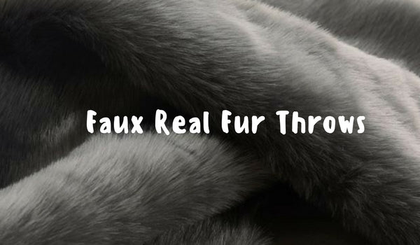 Faux Real Fur Throws and Blankets