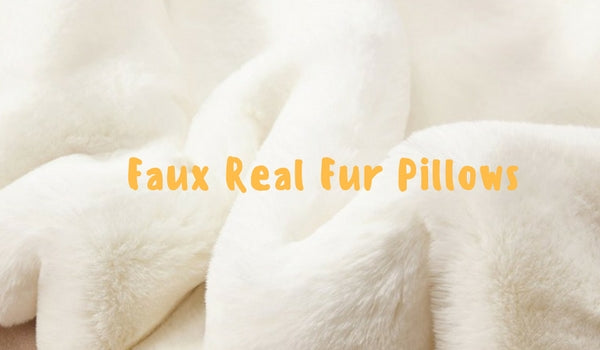 Faux Real Fur Pillows