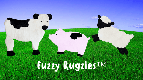 RUGZIES™. Faux Sheepskin. Large, Realistic Animal Shaped Rugs
