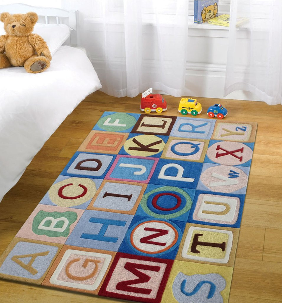 Rug Factory Plus, Zoomania Collection, Kids Rug, ABC Boy Blue