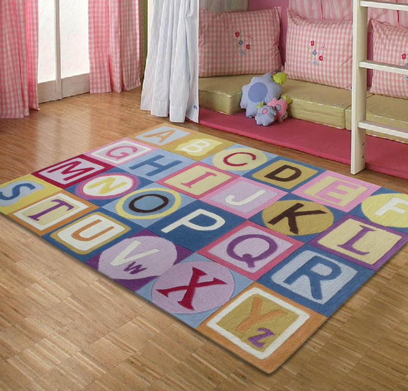 Rug Factory Plus, Zoomania Collection, Kids Rug, ABC Girl Pink