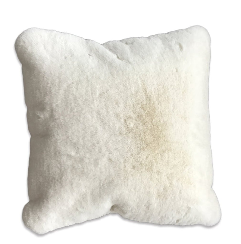 Rug Factory Plus, Chinchilla Faux Pillow, Offwhite