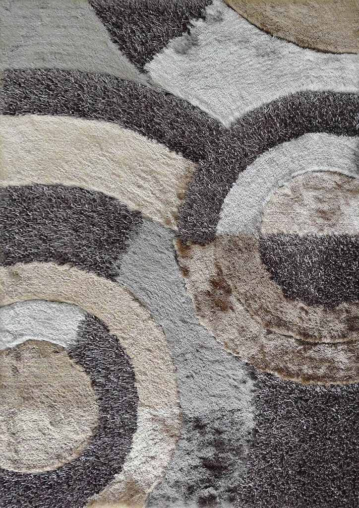 Rug Factory Plus, Shaggy Viscose Area Rug, Design 27 Earth