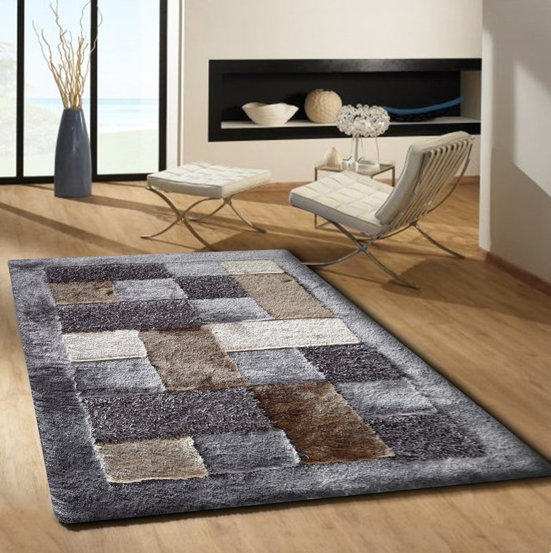 Rug Factory Plus, Shaggy Viscose Area Rug, Design 30 Earth