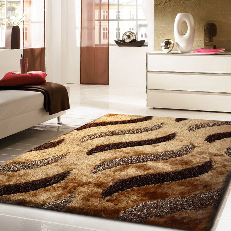 Rug Factory Plus, Shaggy Viscose Area Rug, Design 40 Brown