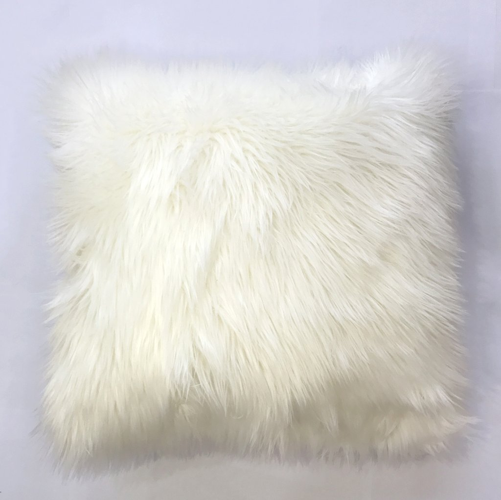 Rug Factory Plus, Fox Faux Fur Pillow, White