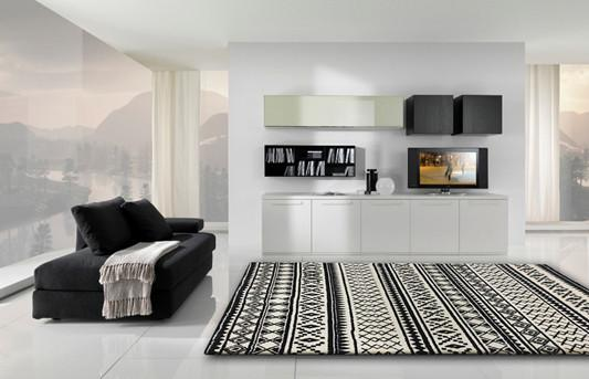 Rug Factory Plus, Luna Collection 75, Black & White
