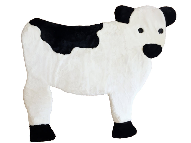 Faux Fur Rug - Faux Fur Rug For Nursery Or Kids Room, 3x5 - 4x6. Rugzies䋢: Cow, Piggy, Lamb