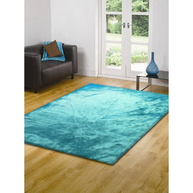 Faux Fur Rug - Rug Factory Plus, Faux Sheepskin Area Rug,  Turquoise