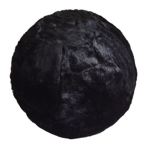 Fuzzy Yoga Ball - Rug Factory Plus, Bouncy Ball Collection, Bouncy Ball Black