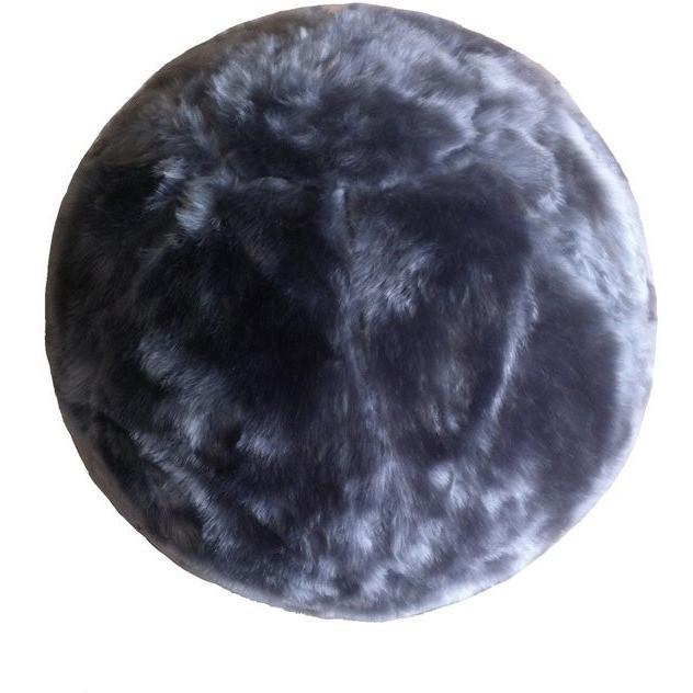 Fuzzy Yoga Ball - Rug Factory Plus, Bouncy Ball Collection, Bouncy Ball Gray