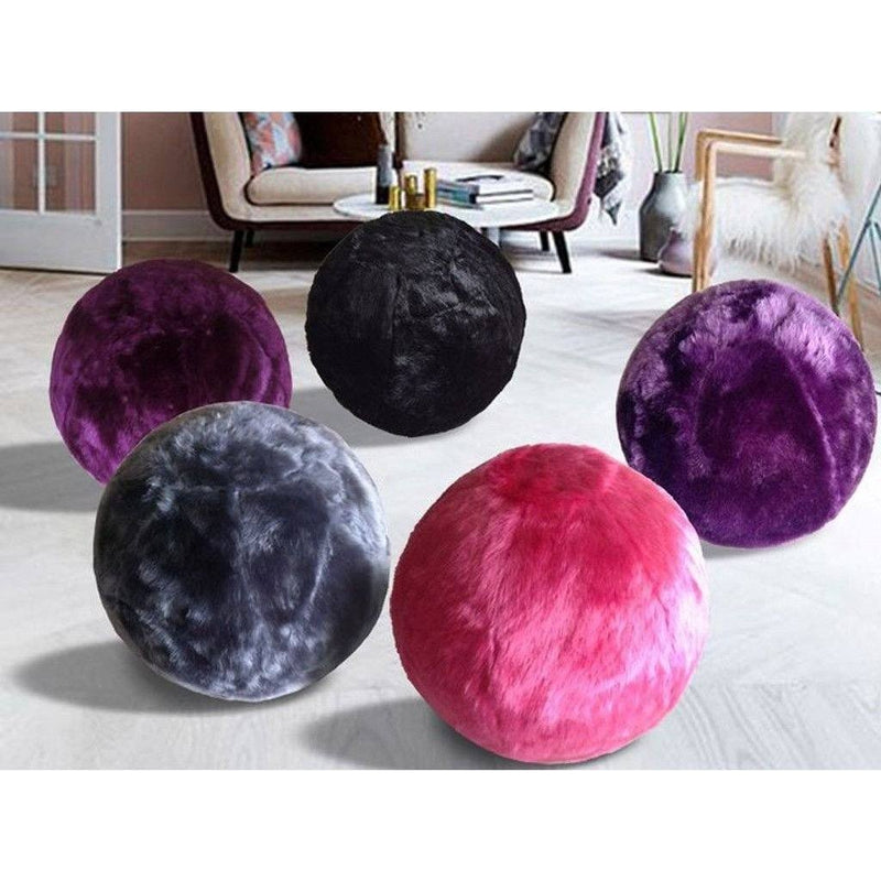 Fuzzy Yoga Ball - Rug Factory Plus, Bouncy Ball Collection, Bouncy Ball Purple