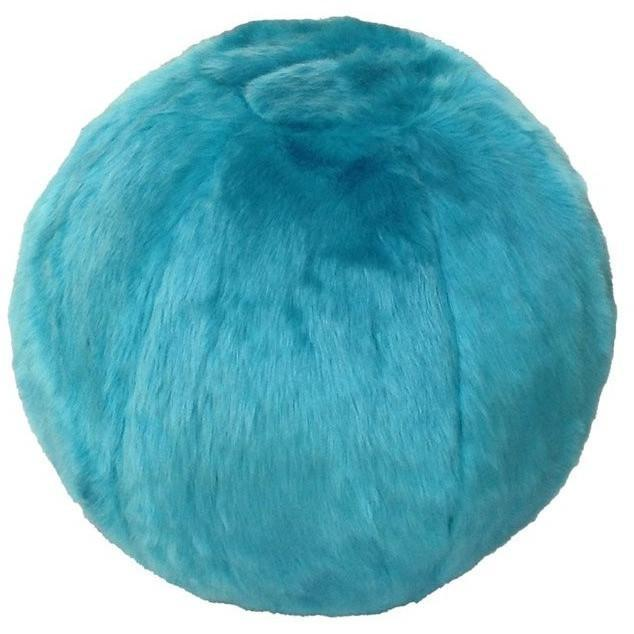Fuzzy Yoga Ball - Rug Factory Plus, Bouncy Ball Collection, Bouncy Ball Turquoise