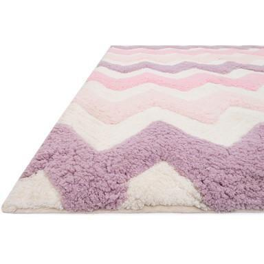 Kids Rug - Loloi Rugs,  Lola Shag Pink & Purple Kids Area Rug