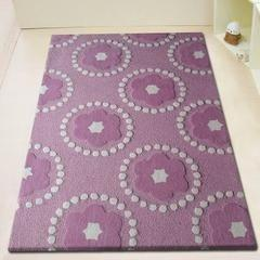 Kids Rug - Rug Factory Plus, Zoomania Collection, Kids Area Rug, Purple Pedals/Petals