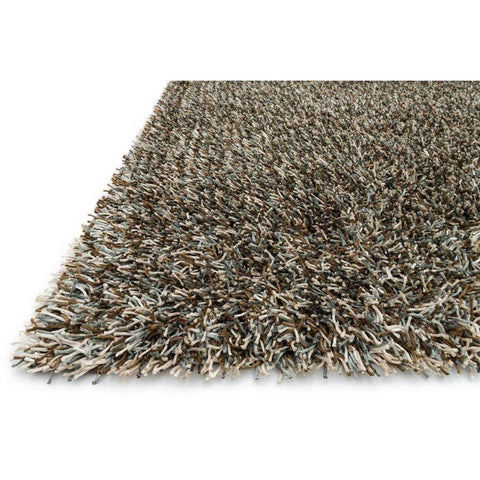 Loloi Rugs, Carrera Shag Collection, CG-02 Blue Mocha Shag Area Rug-Warm Fuzzies Place