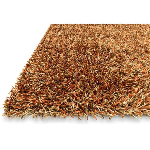 Loloi Rugs, Carrera Shag Collection, CG-02 Spice Shag Area Rug-Warm Fuzzies Place