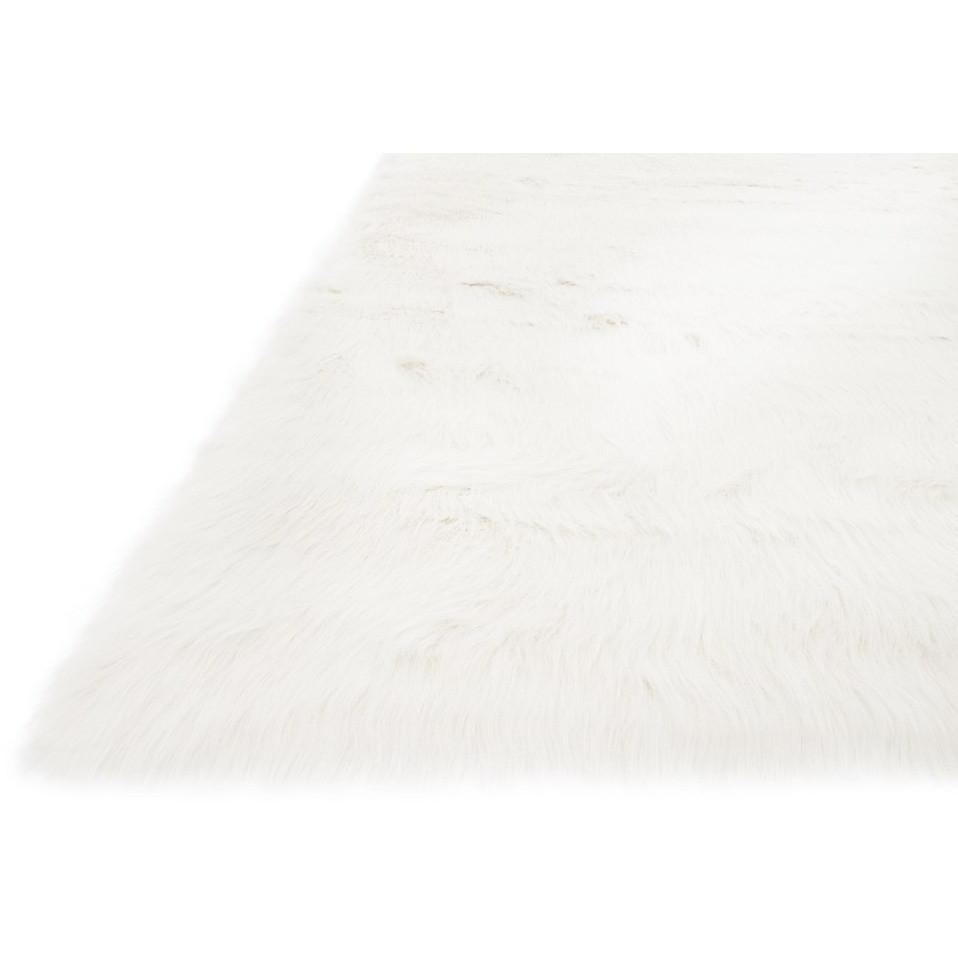Loloi Rugs, Danso Collection, DA-04 Ivory Faux Fur Area Rug-Warm Fuzzies Place