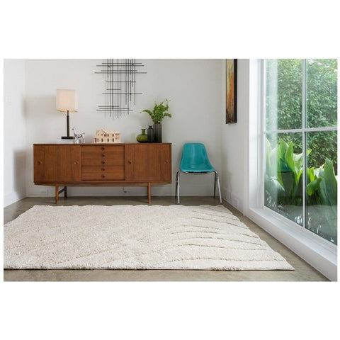 Loloi Rugs, Enchant EN-02 High-Low Shag Area Rug, Ivory-Warm Fuzzies Place
