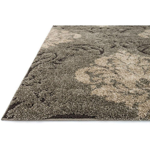 Loloi Rugs, Enchant EN-03 High-Low Shag Area Rug, Smoke/Beige-Warm Fuzzies Place