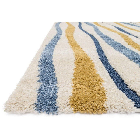 Loloi Rugs, Enchant EN-16 High-Low Shag Area Rug, Ivory/Multi-Warm Fuzzies Place