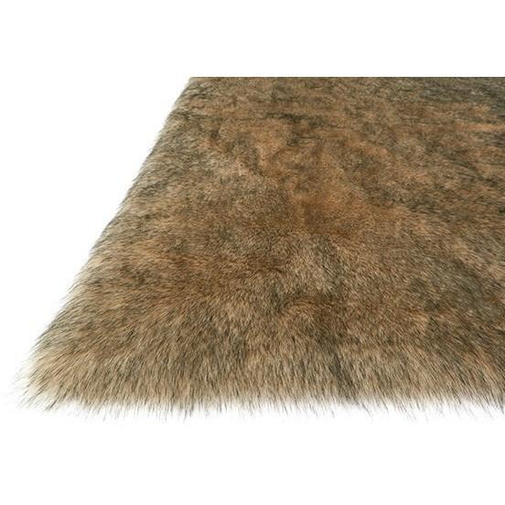 Loloi Rugs, Finley Collection, FN-01 Beige & Black Faux Fur Two-Toned Rug-Warm Fuzzies Place