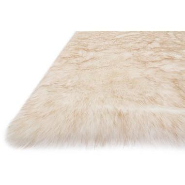 Loloi Rugs, Finley Collection, FN-01 Ivory & Beige Faux Fur Two-Toned Rug-Warm Fuzzies Place