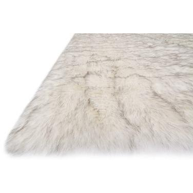 Loloi Rugs, Finley Collection, FN-01 Ivory & Camel Faux Fur Two-Toned Rug-Warm Fuzzies Place