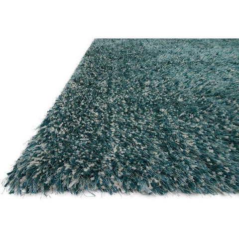 Loloi Rugs, Kendall Shag KD-01 Teal Area Rug-Warm Fuzzies Place