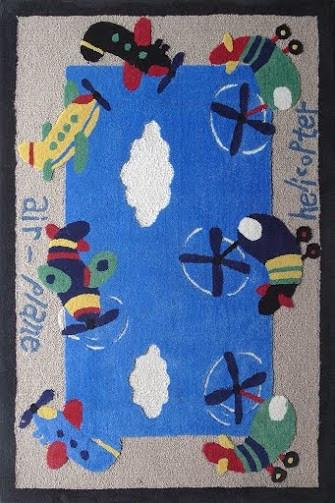 Rug Factory Plus, Zoomania Collection, Kids Rug, Planes