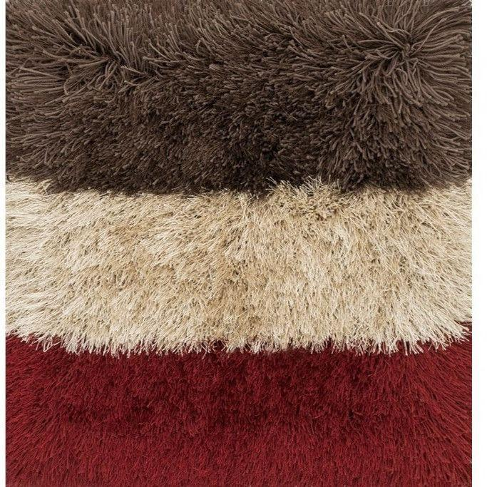 Shag Rug - Loloi Rugs, Allure Shag Collection, AQ-1 Garnet Shag And Faux Fur Area Rug