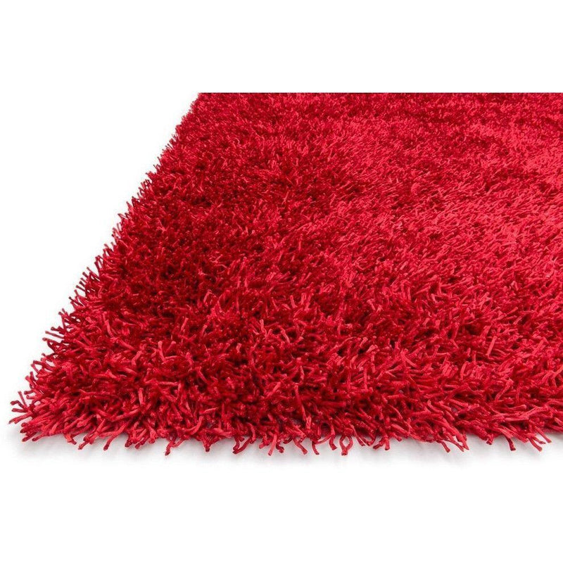 Shag Rug - Loloi Rugs, Carrera Shag Collection, CG-01 Red Shag Area Rug