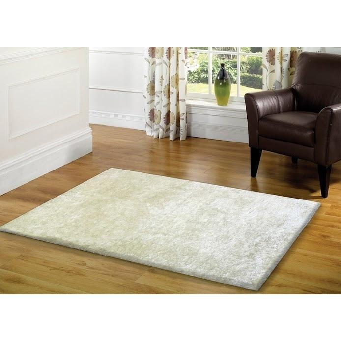 Shag Rug - Rug Factory Plus, Amore Shag Collection, Snow White Area Rug