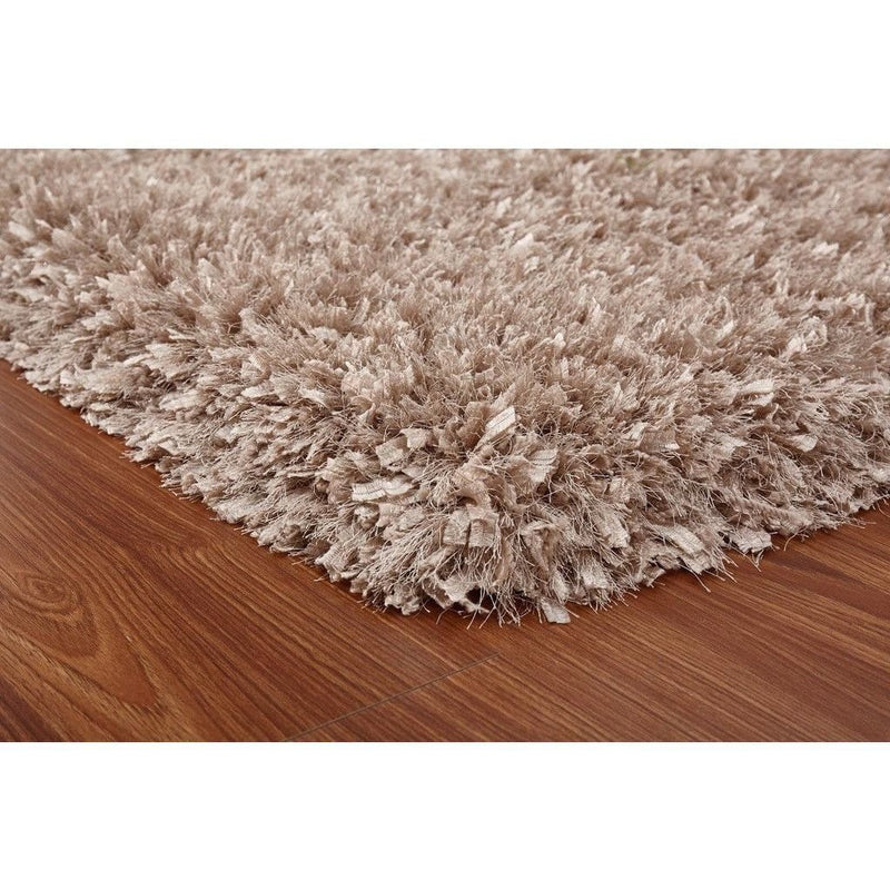 Shag Rug - Rug Factory Plus, Crystal Shag Collection, Beige Hand-Tufted Vibrant Area Rug