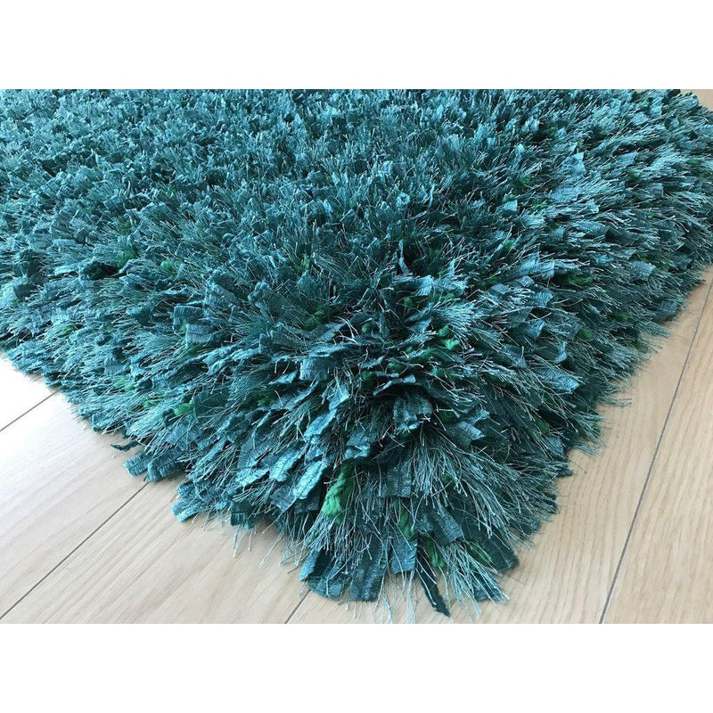 Shag Rug - Rug Factory Plus, Crystal Shag Collection, Lush Meadow Hand-Tufted Vibrant Area Rug