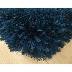 Shag Rug - Rug Factory Plus, Crystal Shag Collection, Navy Hand-Tufted Vibrant Area Rug