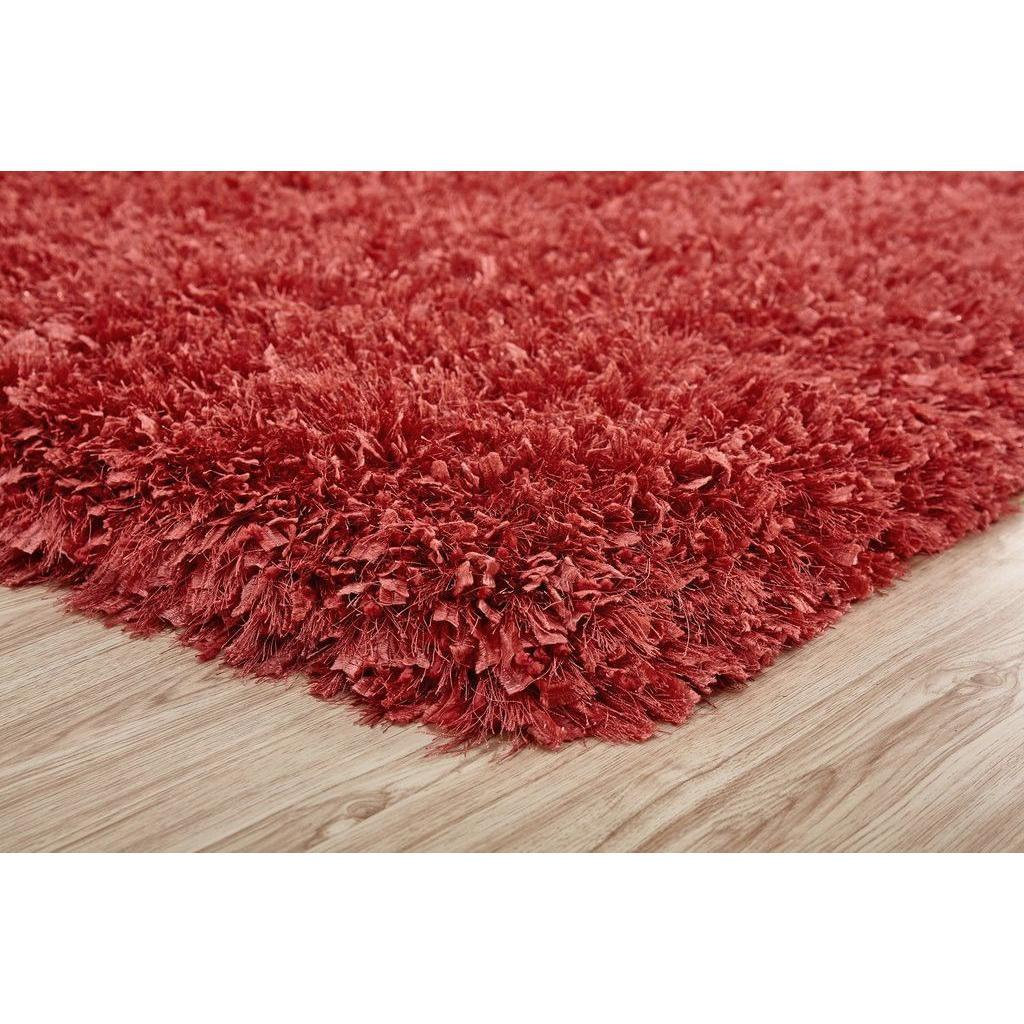 Shag Rug - Rug Factory Plus, Crystal Shag Collection, Peach Hand-Tufted Vibrant Area Rug