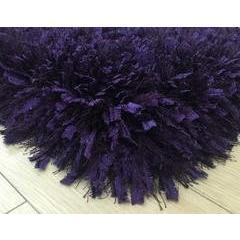 Shag Rug - Rug Factory Plus, Crystal Shag Collection, Purple Hand-Tufted Vibrant Area Rug