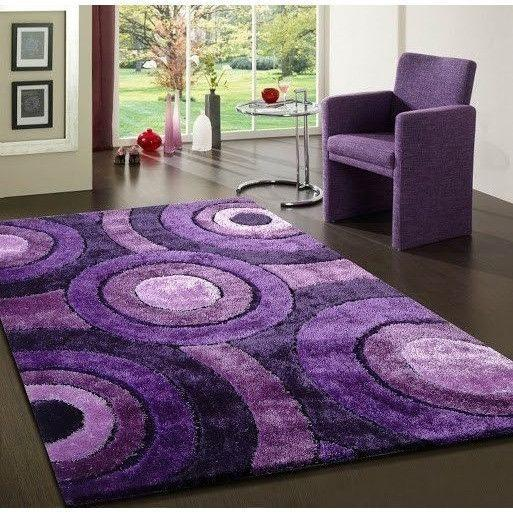 Shag Rug - Rug Factory Plus, Living Shag Collection,  Design 110 Lavender Area Rug
