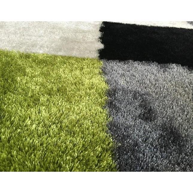 Shag Rug - Rug Factory Plus, Lo La Shag 004 Green Gray Area Rug