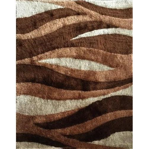 Shag Rug - Rug Factory Plus, Lo La Shag 007 Brown Area Rug