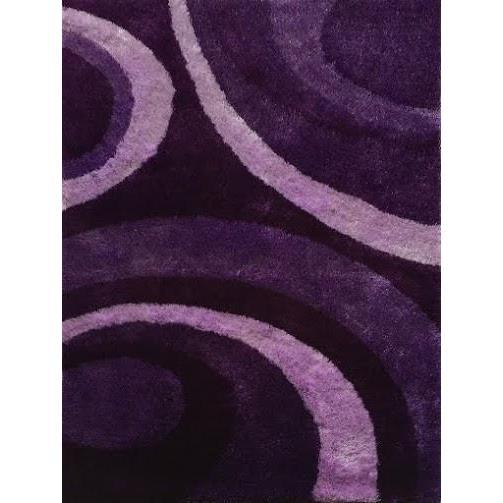 Shag Rug - Rug Factory Plus, Lo La Shag 008 Purple Area Rug