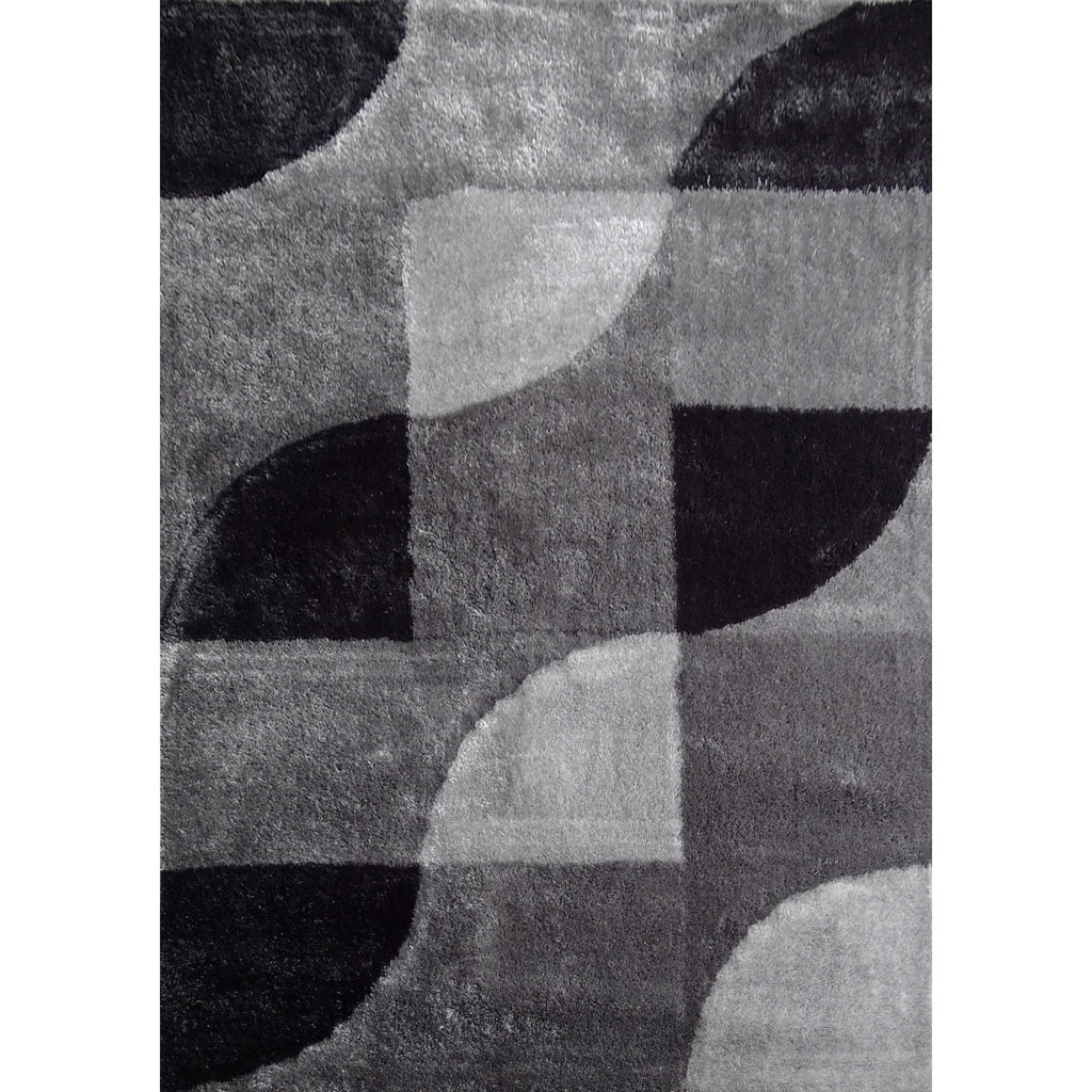Shag Rug - Rug Factory Plus, Lo La Shag 13 Gray Black Area Rug