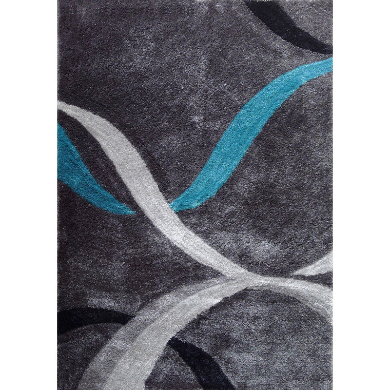 Shag Rug - Rug Factory Plus, Lo La Shag 14 Gray Area Rug