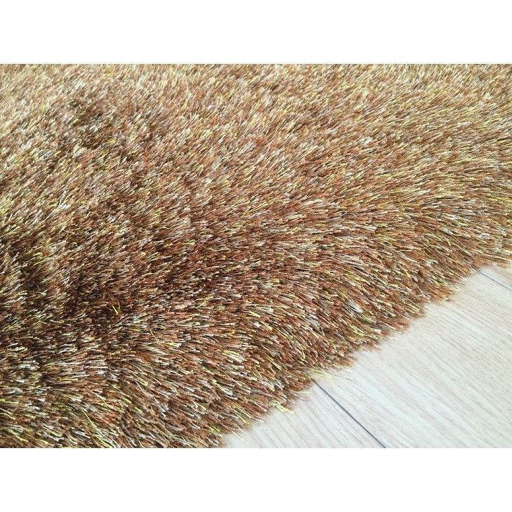 Shag Rug - Rug Factory Plus, Lurex Shag Collection, 2 Tone Gold Long Pile Shag Area Rug