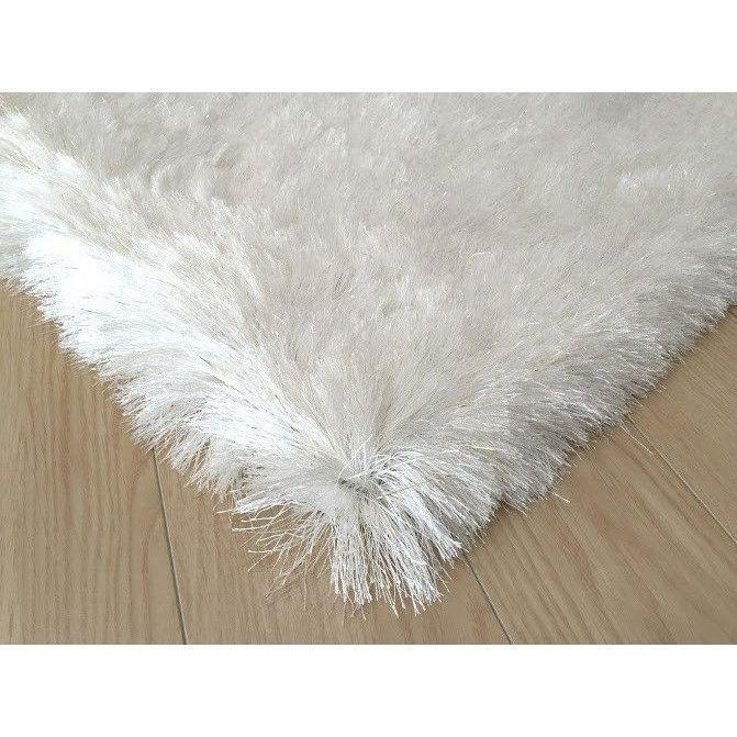 Shag Rug - Rug Factory Plus, Lurex Shag Collection, 2 Tone White Long Pile Shag Area Rug